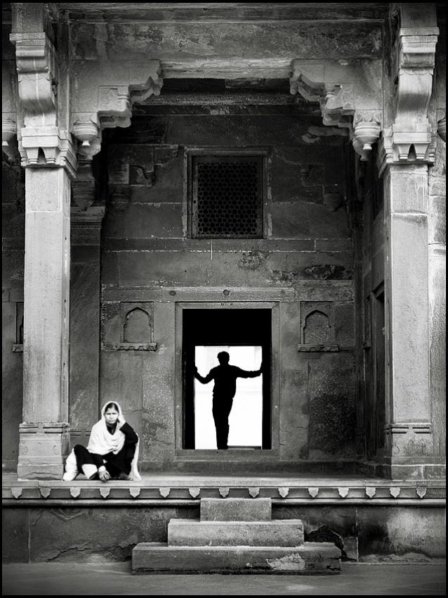 A piece of fine art art photography titled Sadhvi by sensorfleck