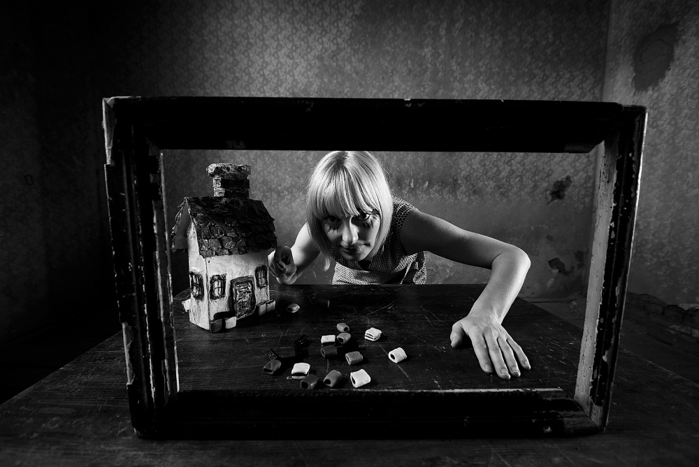 A piece of fine art art photography titled Gretel by mario grobenski - psychodaddy
