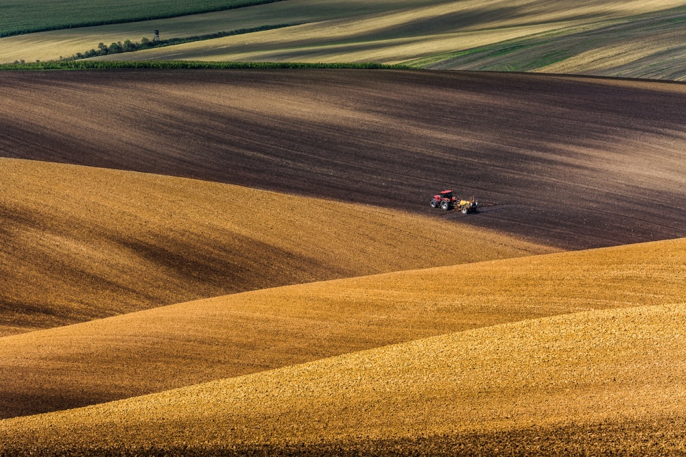 A piece of fine art art photography titled Moravian Fields by Marek Biegalski EFIAP