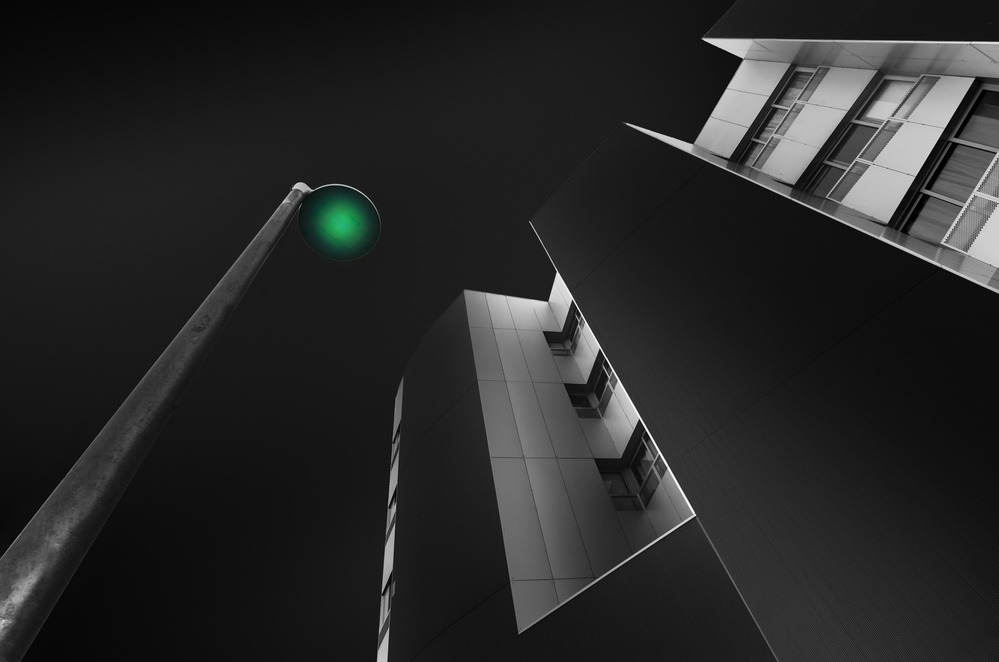 A piece of fine art art photography titled Green Light by Alfonso Novillo