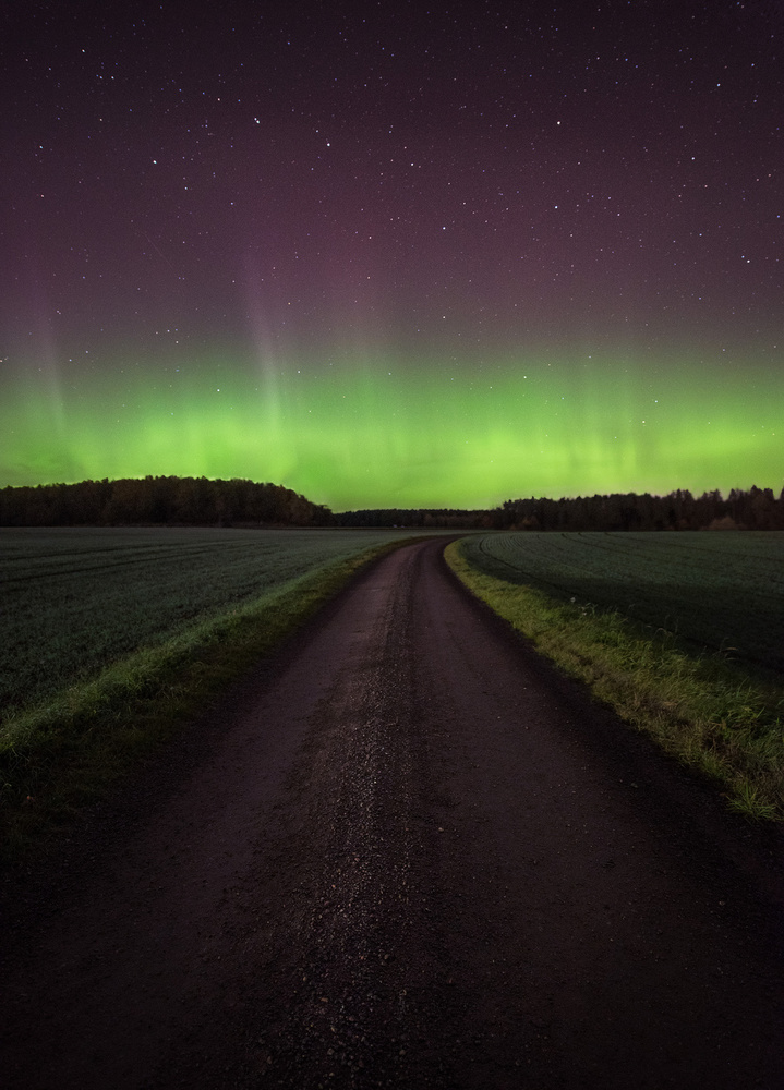 Northern lights in south Sweden