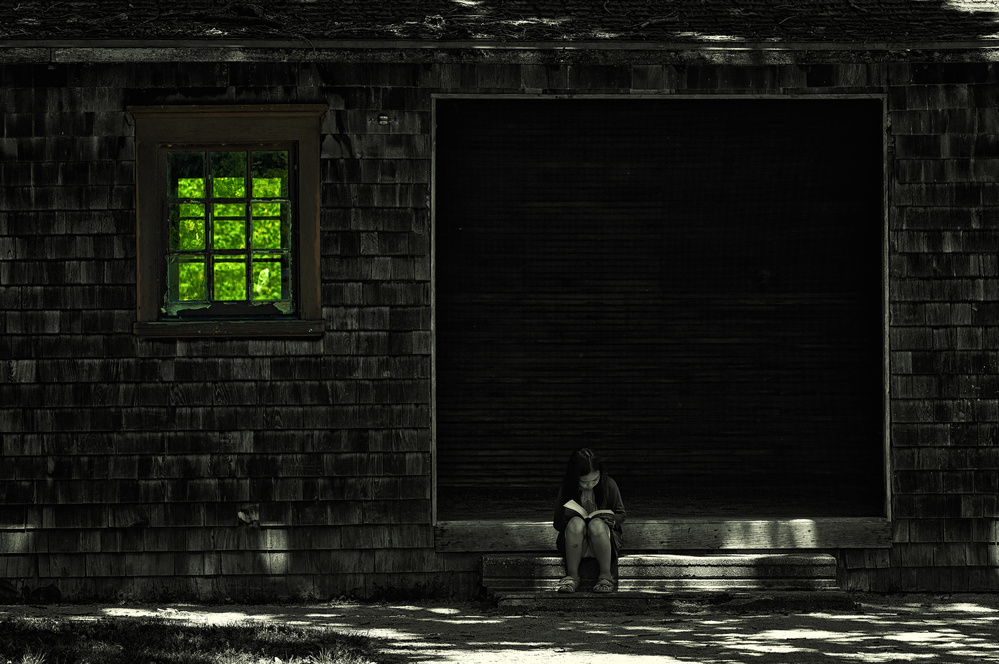 A piece of fine art art photography titled Reading In Summer Afternoon by Yu Cheng