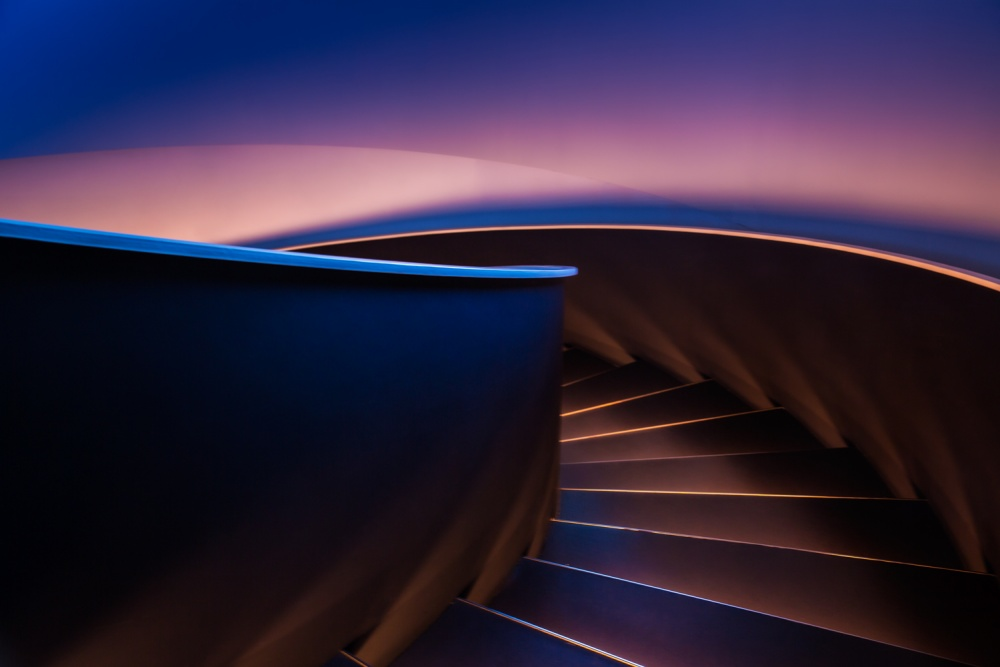 A piece of fine art art photography titled Stairs by Rubén Vilanova