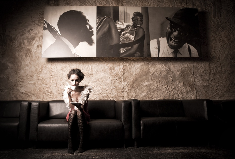 A piece of fine art art photography titled :::Sara In the Club::: by LeHu