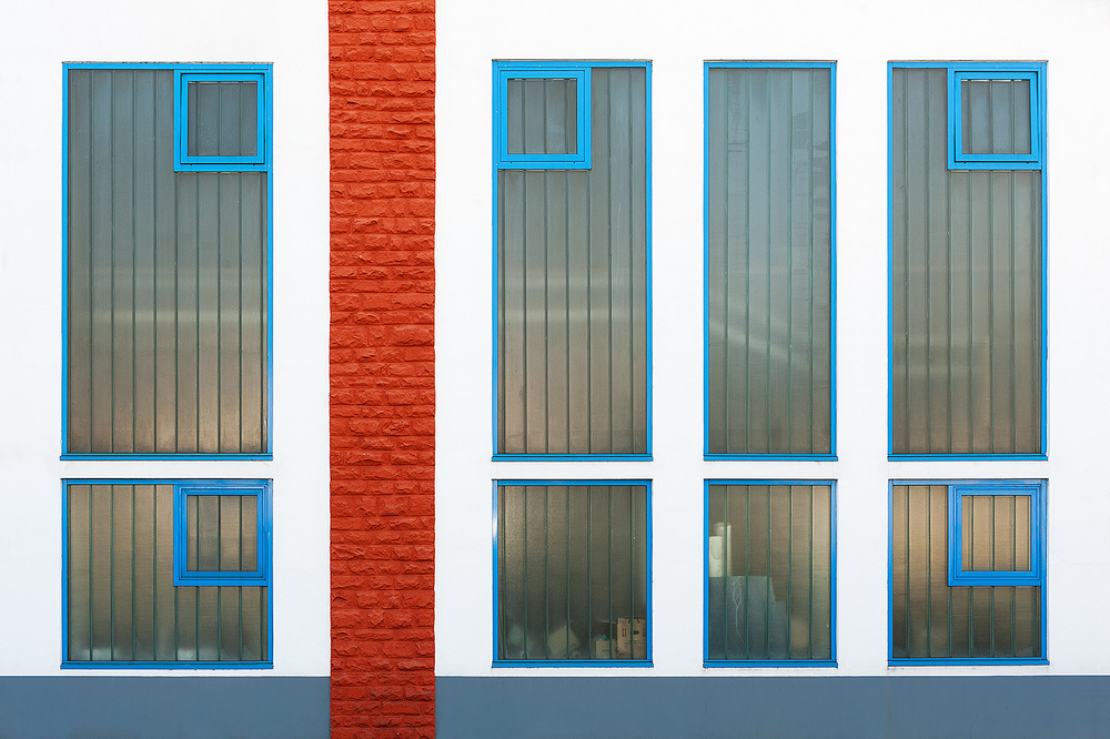 A piece of fine art art photography titled Old Factory With New Painting by Georges Forster