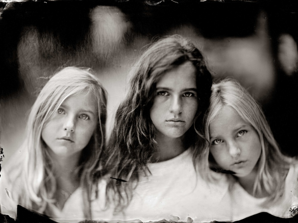 A piece of fine art art photography titled Three Sisters by Peter van Hal