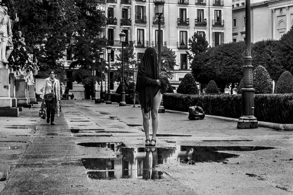 A piece of fine art art photography titled The Puddle by Alejandro Marcos