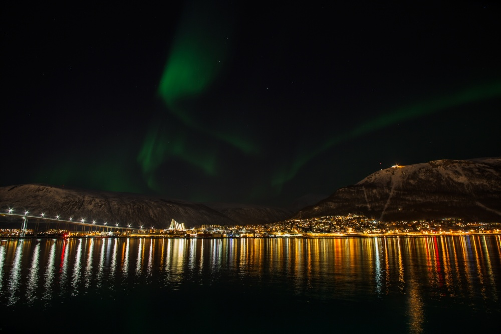 A piece of fine art art photography titled Tromsö City by Par Soderman