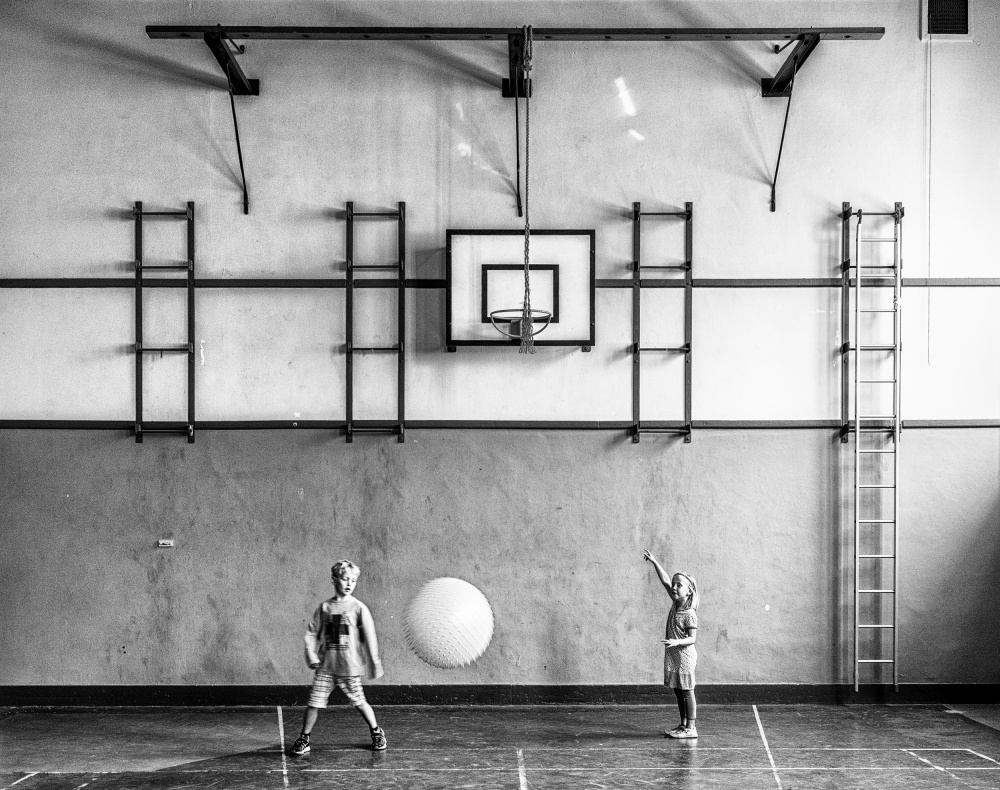A piece of fine art art photography titled Gym by Susanne Stoop