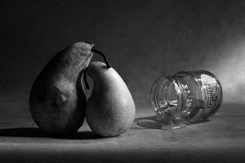 A piece of fine art art photography titled He Won't Come Home or Pear Jam by Victoria Ivanova