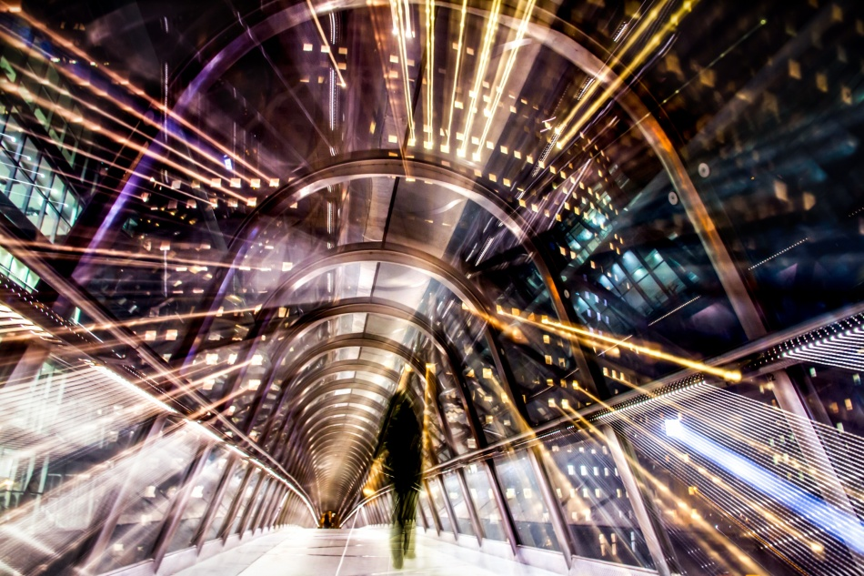 A piece of fine art art photography titled Tunnel Effect by charly lataste