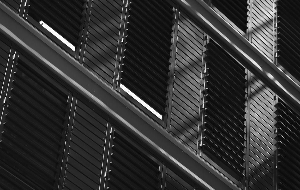 A piece of fine art art photography titled Blinds and Shadows by Greetje van Son