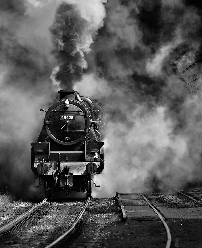 A piece of fine art art photography titled Full Steam Ahead by Nick Walton