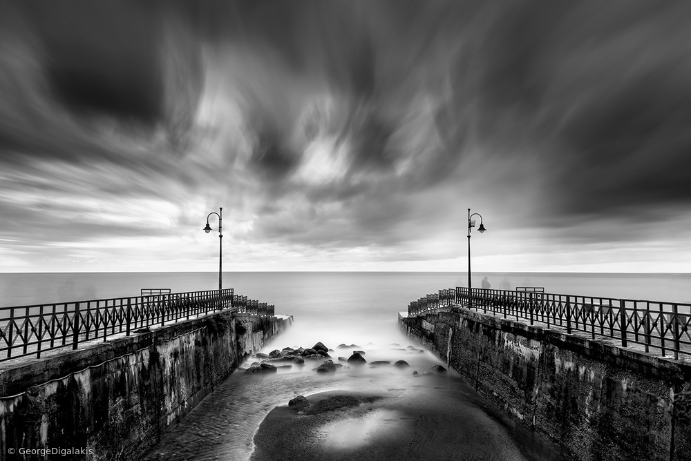 View this piece of fine art photography titled Double Pier by George Digalakis