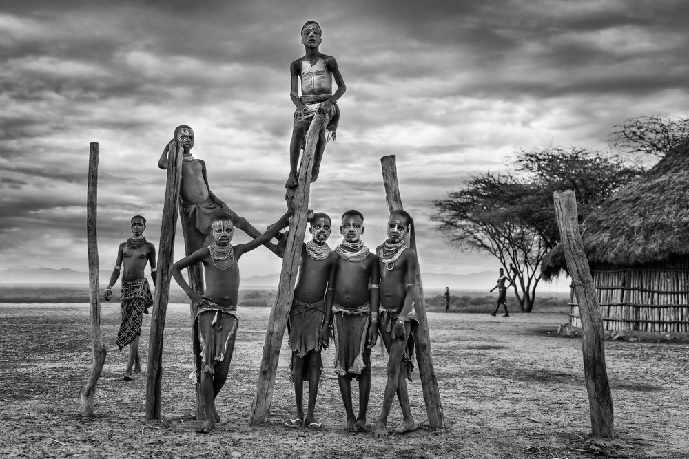 A piece of fine art art photography titled Karo People by Jose Beut