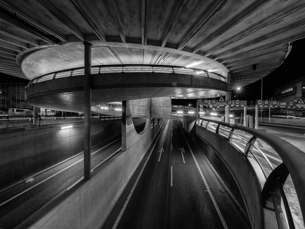 A piece of fine art art photography titled The Car Park by Eric Chatelain