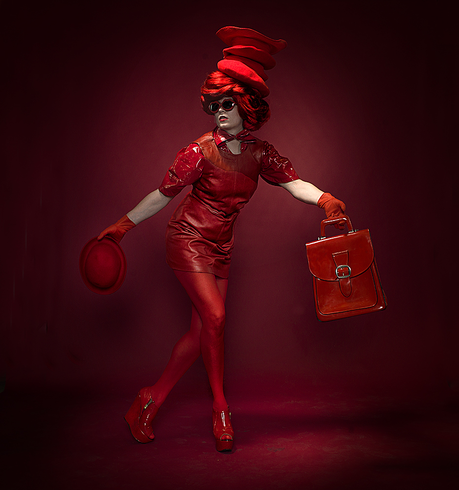 A piece of fine art art photography titled Red On Red by Peter Kemp