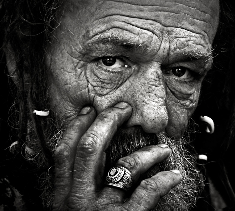 A piece of fine art art photography titled His Life Is In His Eyes by Andre du Plessis FRPS