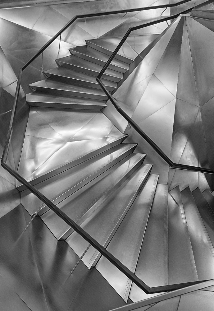 A piece of fine art art photography titled Stairscaixa Forum by Secundino Losada