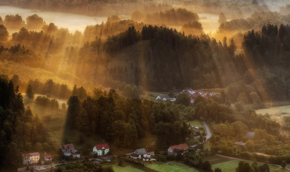 A piece of fine art art photography titled Morning Light by Piotr Krol (Bax)