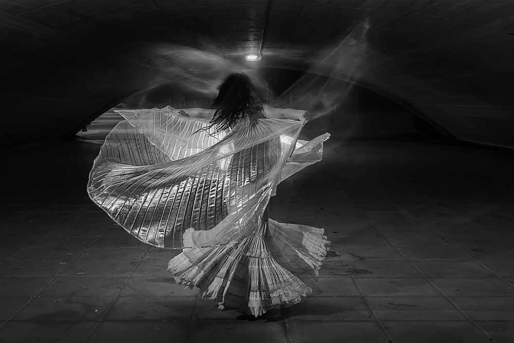 A piece of fine art art photography titled  Dancing  by Abel Castro
