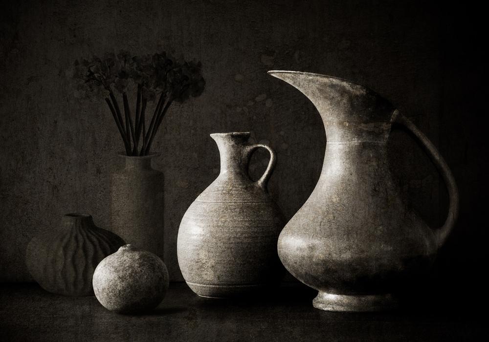 A piece of fine art art photography titled Jug Curves by Jacqueline Hammer
