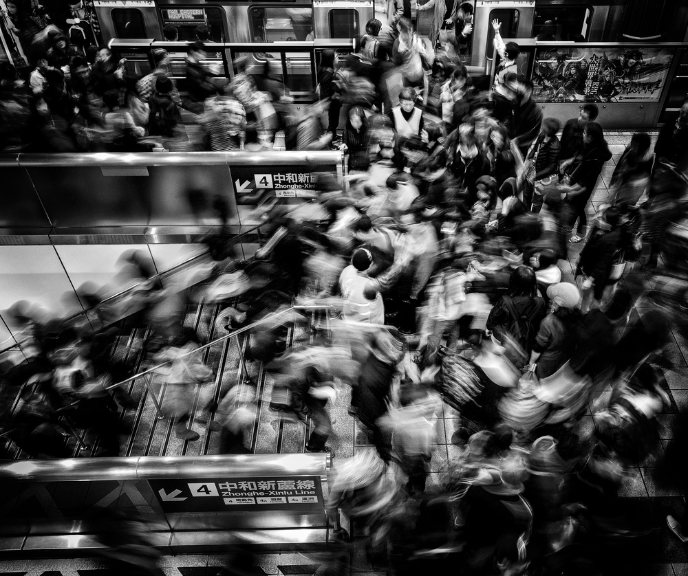 A piece of fine art art photography titled Rush Hour by Patricia Soon