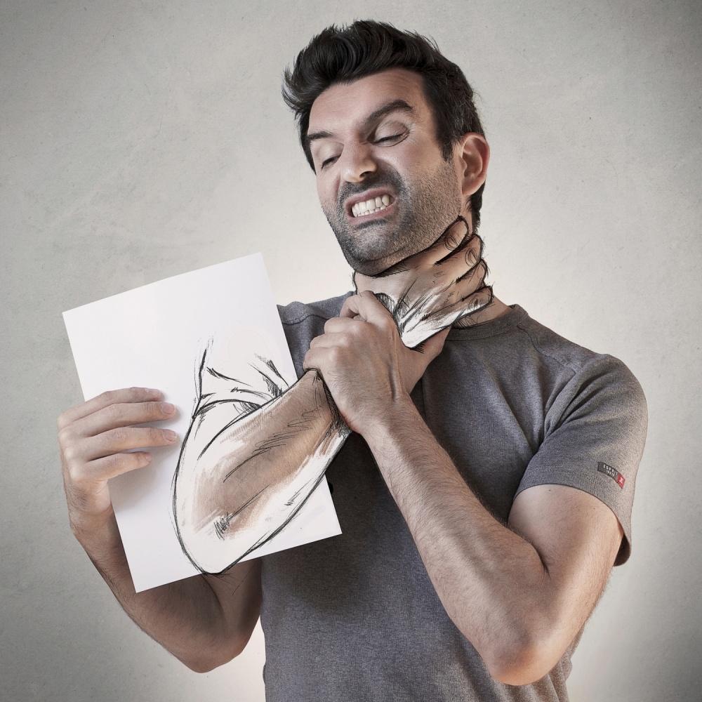 A piece of fine art art photography titled Killer Sketch II by Sebastien DEL GROSSO