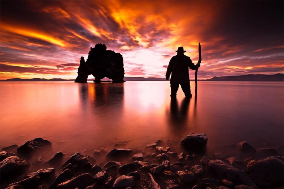 A piece of fine art art photography titled From Dusk to Dawn by Skarphedinn Thrainsson (Skarpi)