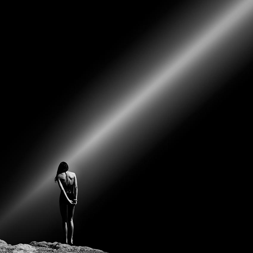 A piece of fine art art photography titled Solitude by Villi