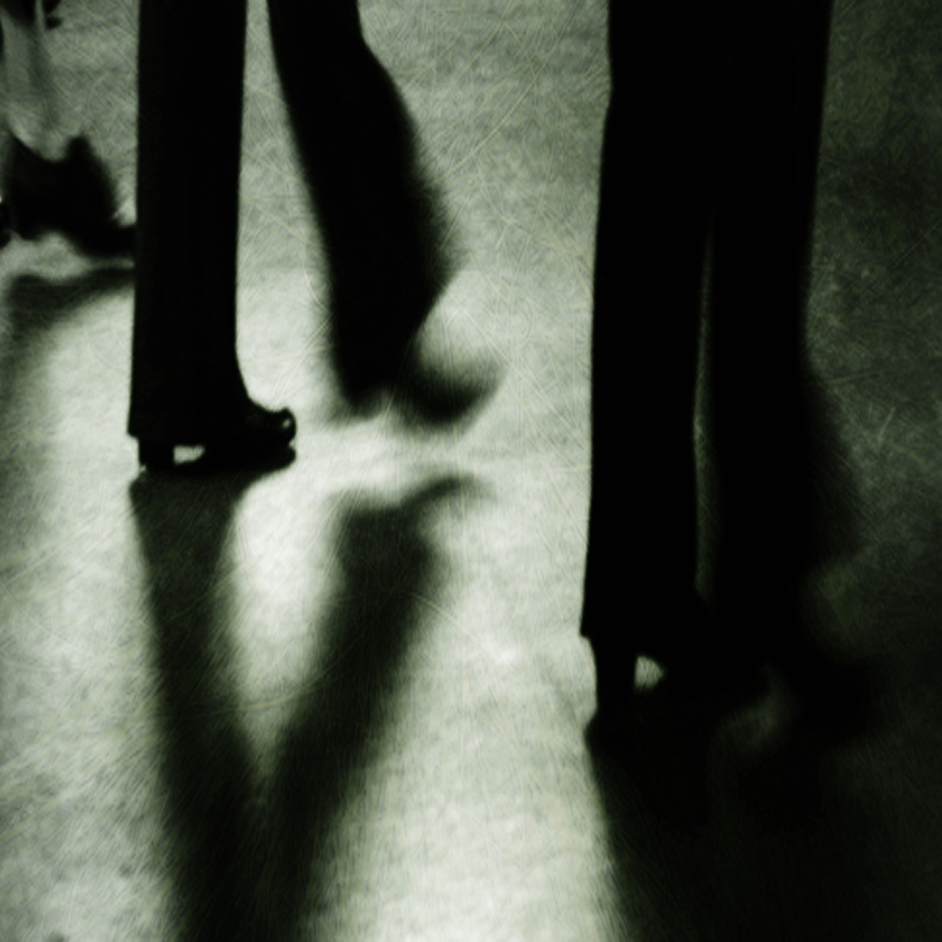 A piece of fine art art photography titled High Legs = Tall Shadows by Tamsin Swait
