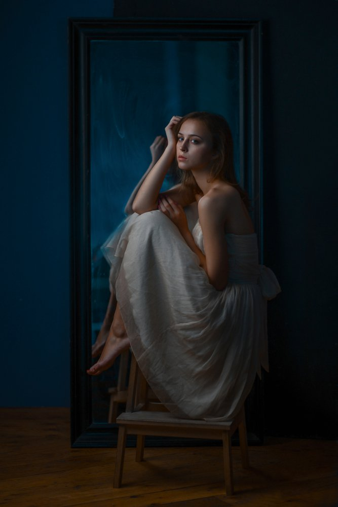 A piece of fine art art photography titled Thoughtful by David Petrosyan