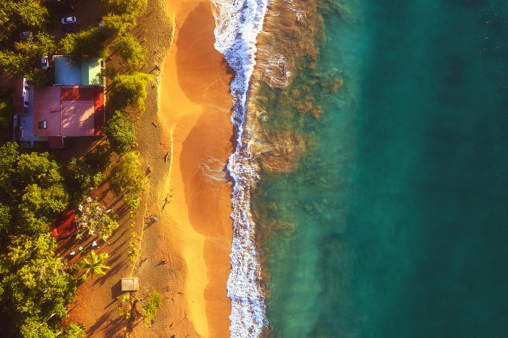Guadeloupe - Plage de la Perle Aerial