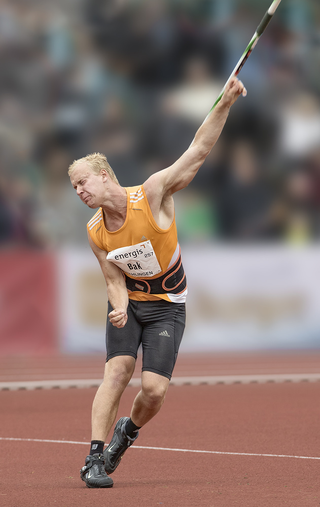 A piece of fine art art photography titled Javelin by Rainer Mueller