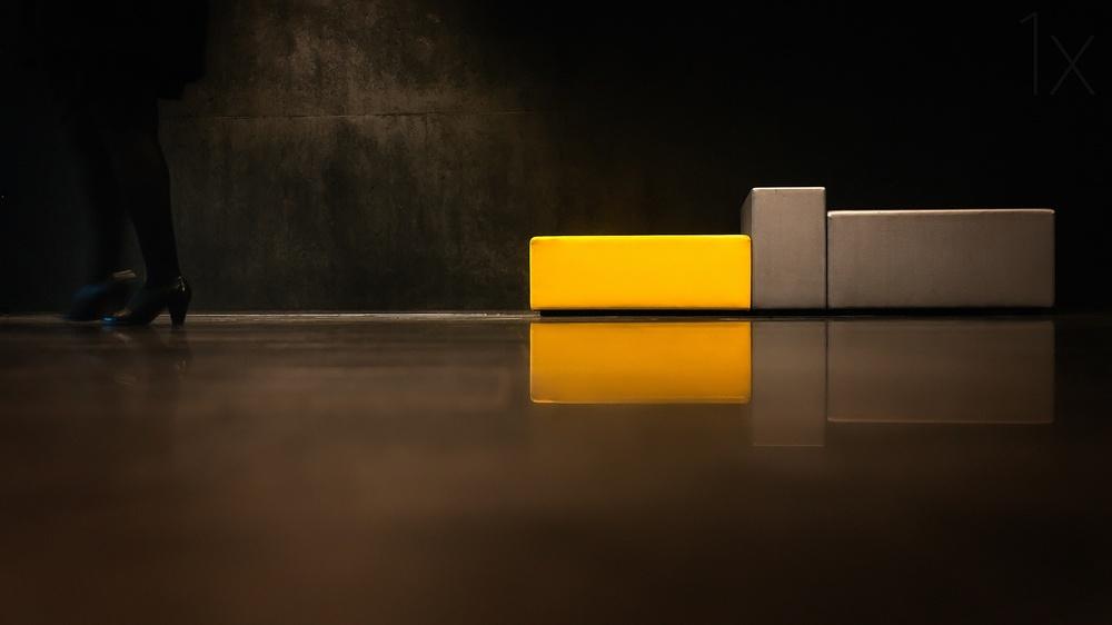 A piece of fine art art photography titled Rectangular Designs II by piXXelpark