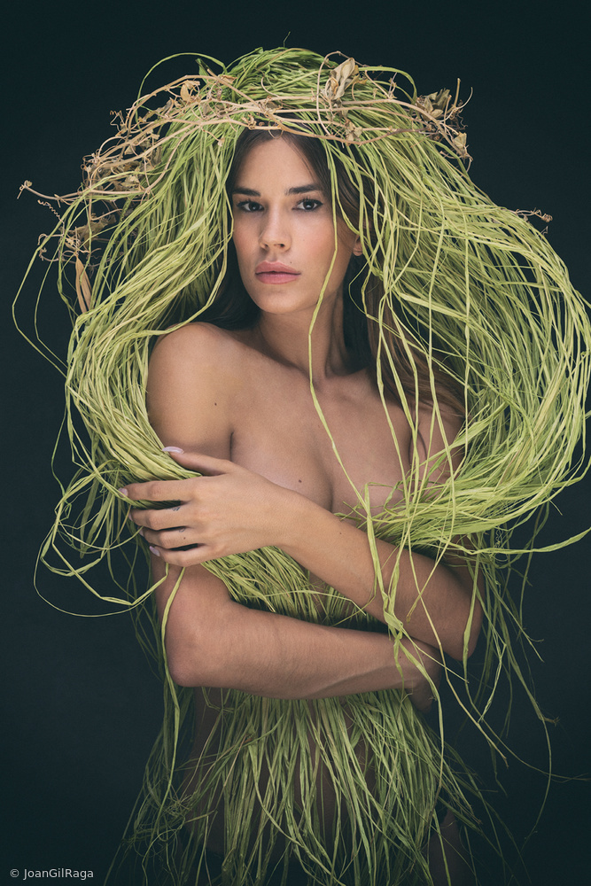 View this piece of fine art photography titled Lorena in green by Joan Gil Raga