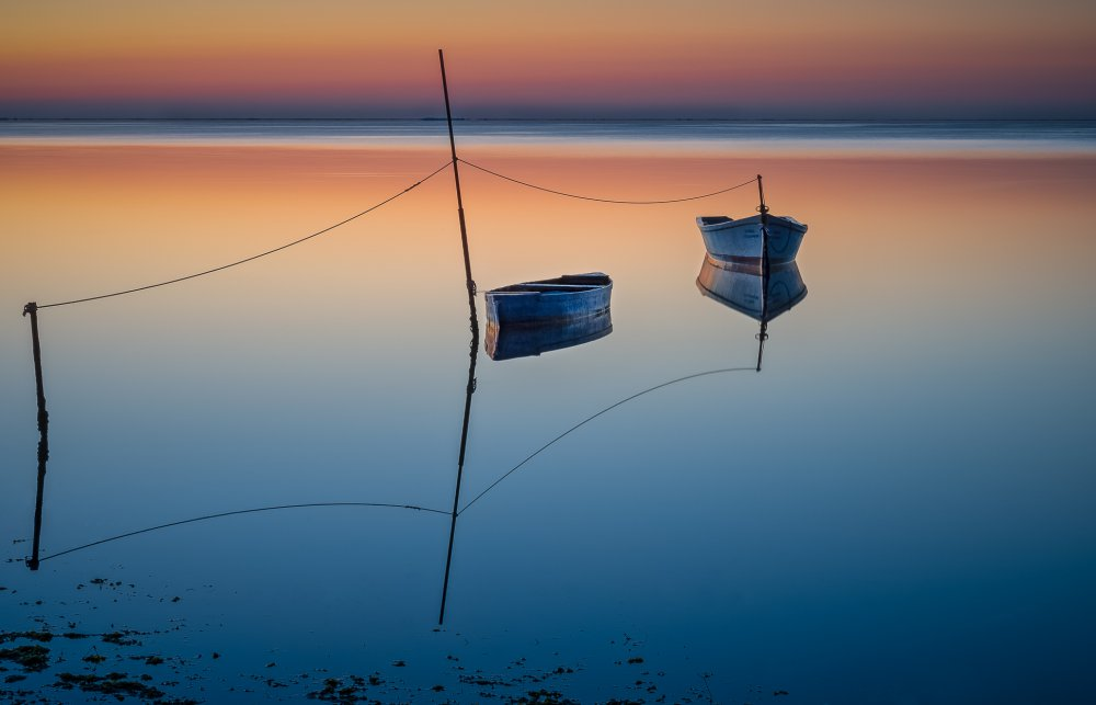 View this piece of fine art photography titled Two boats by Xavier Mejias