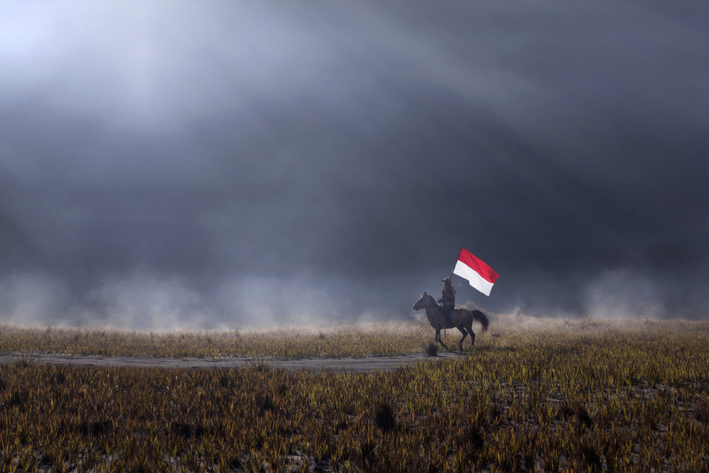A piece of fine art art photography titled Independence Day by Nunu Rizani