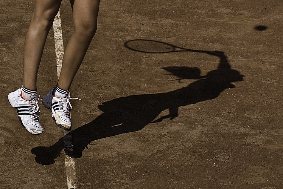 A piece of fine art art photography titled Shadow In Action by Jordi Gallego