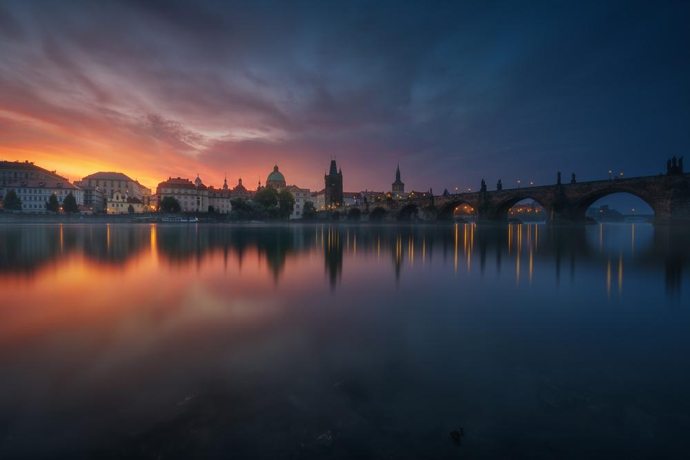 A piece of fine art art photography titled New Prague by Juan Pablo de Miguel