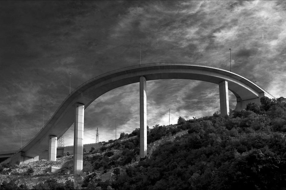 A piece of fine art art photography titled Skyway by Jurcic Zeljko