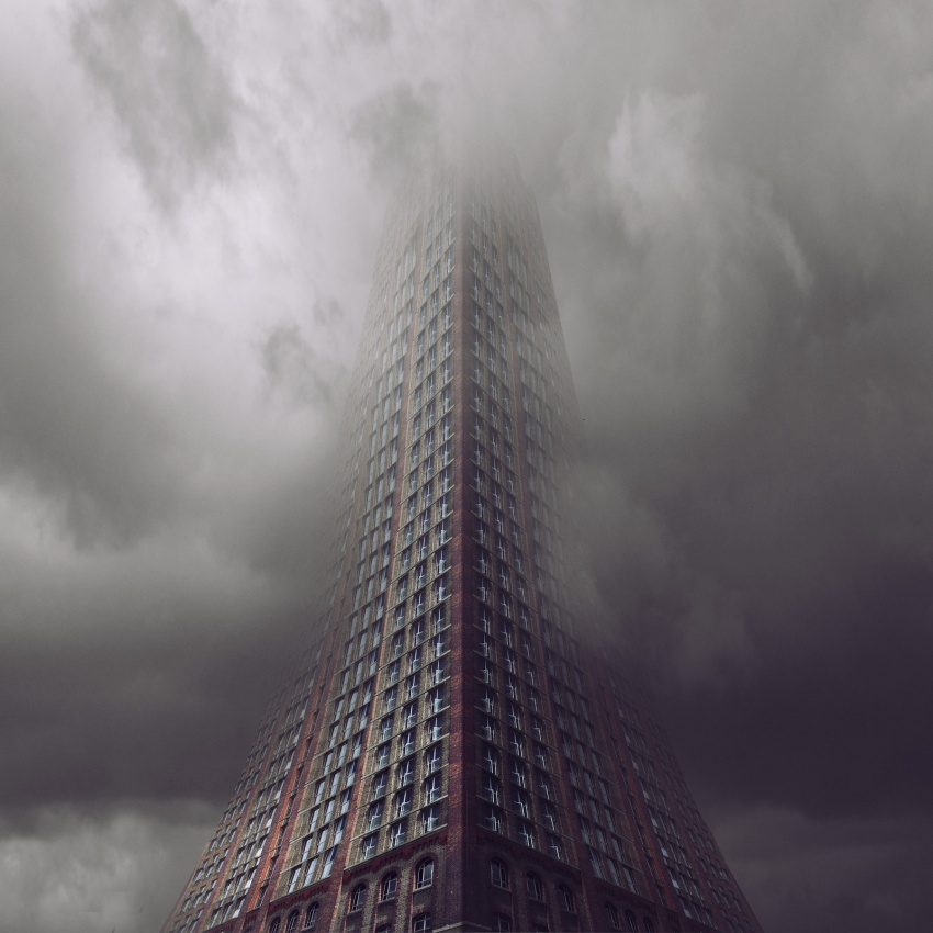 A piece of fine art art photography titled The Tower of Babel by Francesco Romoli - russelaid