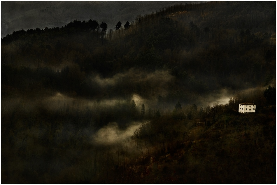 A piece of fine art art photography titled House On the Hill by Marco Tomei