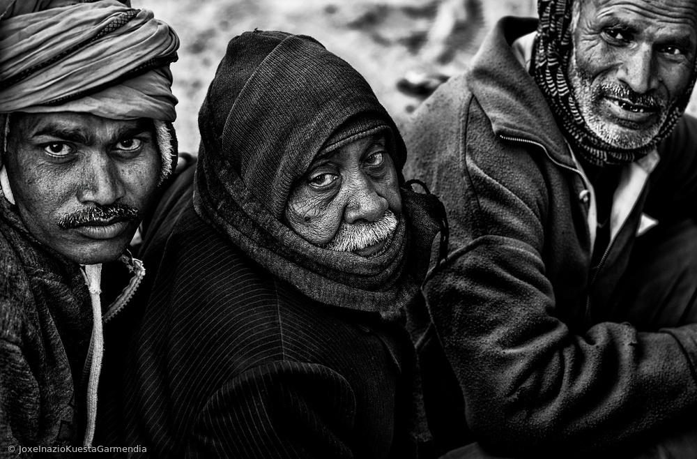 View this piece of fine art photography titled Waiting for a free eye check-up and screening-III - Netra Kumbh - Prayagraj-India by Joxe Inazio Kuesta Garmendia
