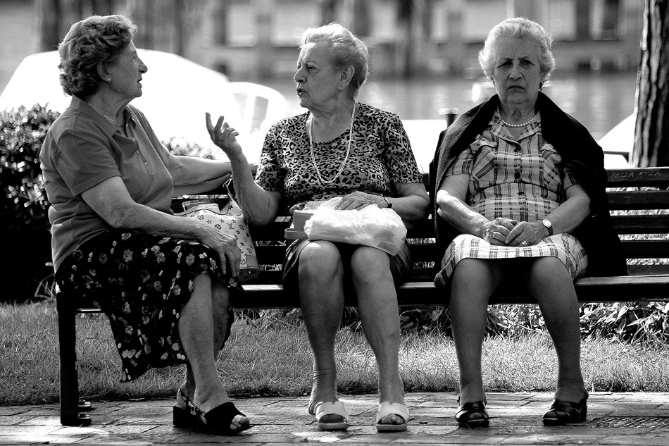 A piece of fine art art photography titled 3  Wise Women by Mick Crean