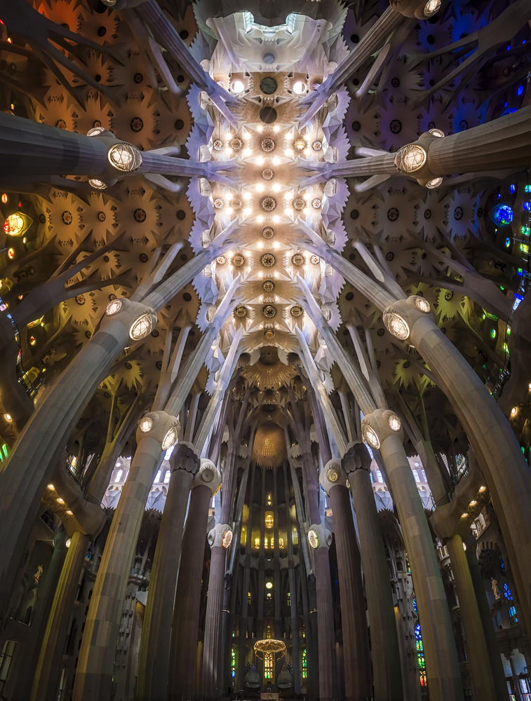 A piece of fine art art photography titled La Sagrada Familía by Ole Moberg Steffensen