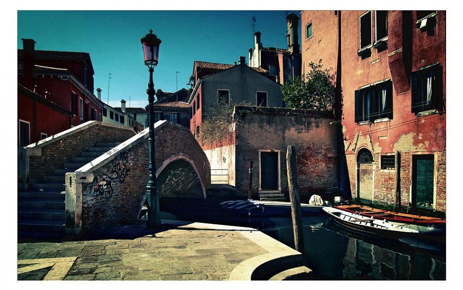 A piece of fine art art photography titled Venetian Backstreet by Tim Johnstone
