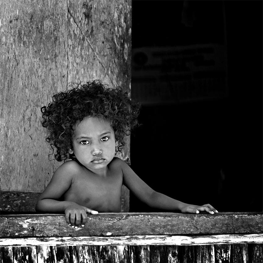 A piece of fine art art photography titled Liitle Girl from Biak Island by ILphoto