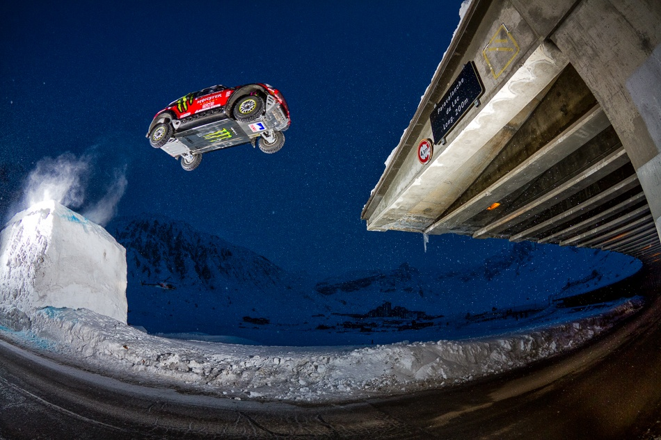 A piece of fine art art photography titled The Jumping Freestyle Car With Guerlain Chicherit by Tristan Shu