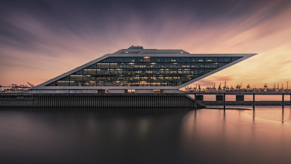 A piece of fine art art photography titled Dockland by Alexander Schönberg